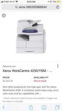 Xerox Workcentre Printer & photocopier new and unopened