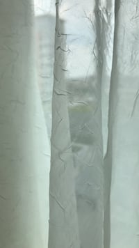 One textured off-white sheer window curtain Chicago, 60610