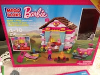 Mega bloks barbie glam cabin screenshot in box. once built it up and then never played with it ,it is complete as you see in the picture including the book as well  ,210 pcs,for age 4-10 excellent conditions regular price was $91.96 asking $25 Hamilton, L8V 4K6