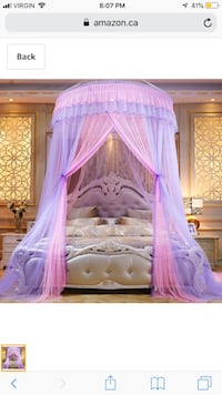 pink purple over bed canopy 150 cmx 270cm