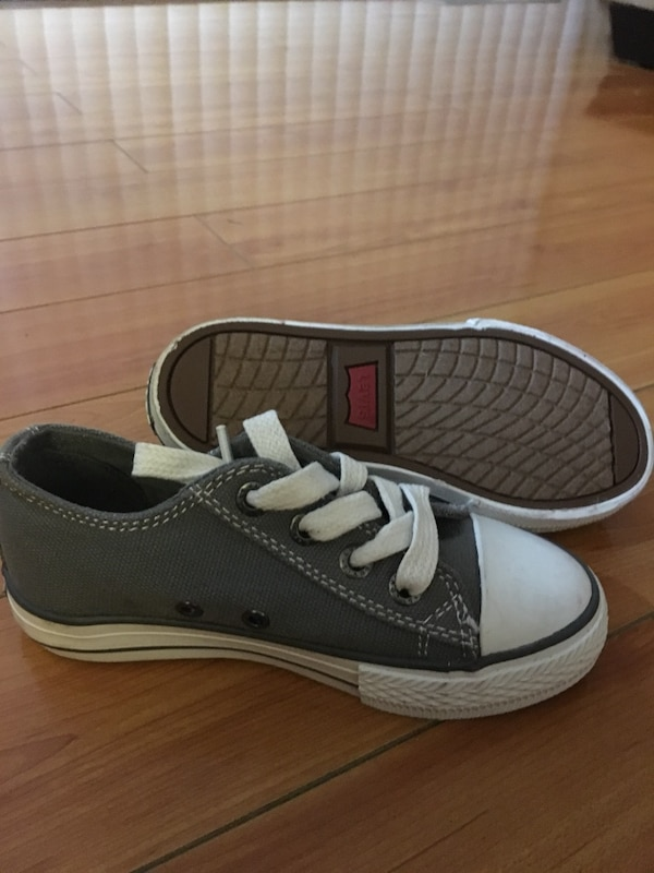 1f022c2b634 Used New boys size 10 gray and white low top sneakers for sale in San Jose