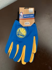 Blue and yellow golden state warriors gloves Freedom, 95019