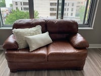 Brown leather loveseat  Bethesda, 20814