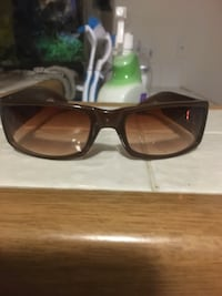 black framed sunglasses with brown lens Mission Viejo, 92692