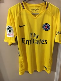 PSG away yellow soccer jersey (NEYMAR)