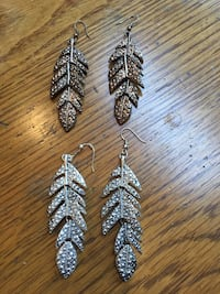 Feather Statement Earrings  Toronto, M9A 3S9