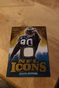 Julius peppers jersey patch card Leesburg, 20175