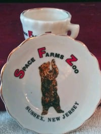 Space Farms Zoo 1967 Mini Tea and Saucer Set