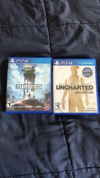 Sony ps4 star wars battlefront and uncharted the nathan drake collection ps4 games Monroe charter township, 48161