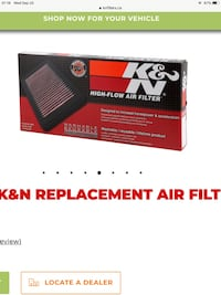 K&N air filter Barrie, L4N 1A1