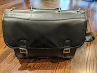 """Black Leather Laptop Bag - up to 15.6"""" - GREAT Condition! Richmond Hill"""