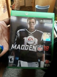 Madden NFL 18 Xbox One game case Linwood, 19061