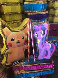 Pokemon Pikachu and purple Little Pony pinatas Highland, 92346