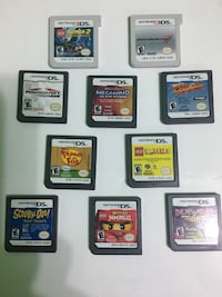 six Nintendo DS game cartridges MISSISSAUGA
