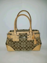 brown and beige Coach leather handbag Ringgold, 30736