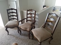 3 antique chairs null