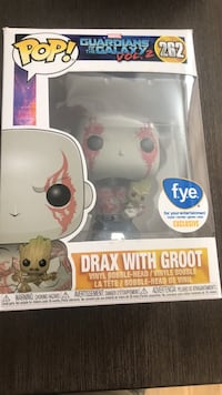 262 Pop! Marvel Guardians of the Galaxy Drax with Groot vinyl figure box
