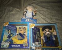 Brand New Lot 3 Chanukah Jewish Holiday Dolls Ask Bubbe Men's h on a Bench and Hannah the Chanukah Hero Box Never Opened Retail is $110 Plantation Plantation, 33322