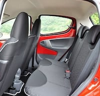 black and red car seat