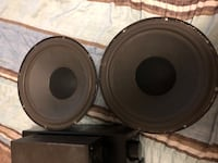 two black-and-gray subwoofers Toronto, M9N 1Y7