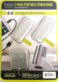 TYLT 2-pack portable power bank with charging dock Bakersfield, 93301