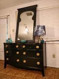 nice black solid wood dresser with big mirror in good condition, all d Annandale, 22003