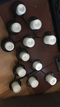 Fireplace metal candle holders. Candles included Denver, 80220