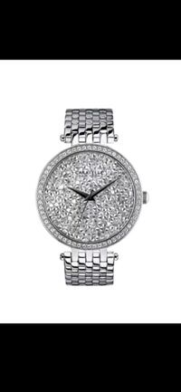 BRAND NEW WOMAN'S CARAVELLE BY BULOVA CRYSTAL PAVE STAINLESS STEEL WAT