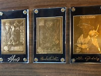22K Baseball Cards For Lou Gehrig, Babe Ruth, Ken Griffey Jr. Kensington, 20895