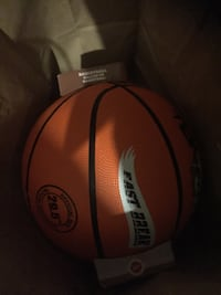 orange and black basketball