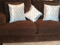 Brown bob o pedic cushions 3 pcs sofa set Ashburn, 20148