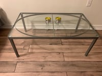rectangular glass top table with black metal base Vaughan, L4J 5T1
