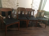 Mid century modern dining table and chairs  2331 mi
