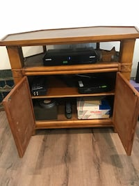 brown wooden TV stand with cabinet Lakewood, 08701
