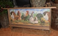 Rustic Reclaimed Wood Farmhouse Rooster Wall Decor Shelf