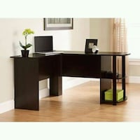 brown wooden desk with hutch Houston, 77092