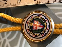British Army Navy & Air Force Veterans in Canada Bolo String Tie VETERANS