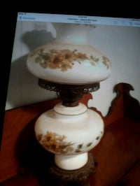 white and brown floral ceramic table lamp Hamilton, L9C 6K4