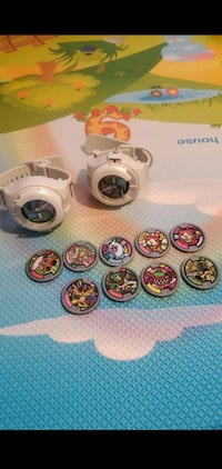 Yokai watches and coins