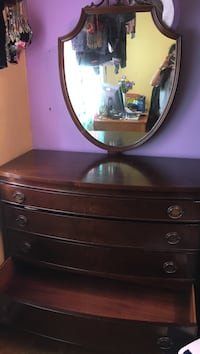 Antique drawer with mirror