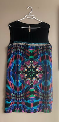 Designal. Blue, pink, and green floral sleeveless dress Calgary, T3K 3W7