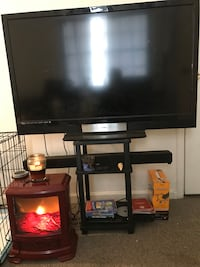 Flat Screen 55inch Tv With Sound Bar,DVD Player & Stand