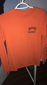 Orange and black DeathRow Records crew neck sweater Mississauga, L5L 4G3