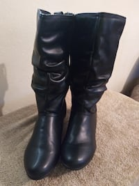 pair of black leather knee-high boots Sherwood, 72120