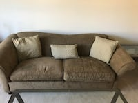 Brown suede 2-seat couch Fairburn, 30213