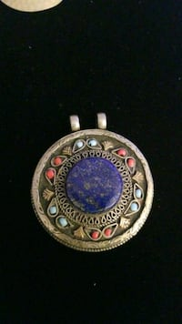 Lapis Lazuli  Afghani Pendant  Handcrafted Sterling Silver  Hyattsville, 20784