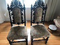 Antique chairs.   2 chairs. Style Jacobean