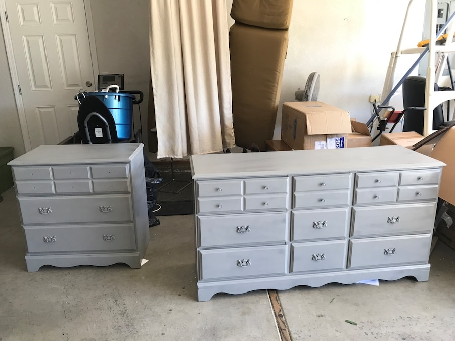 Used Gray Wooden Lowboy Cabinet In Central Point