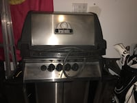 Gray and silver Brol-mate natural gas grill