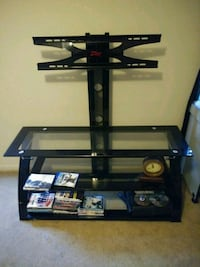 black glass top TV stand with mount Katy, 77449